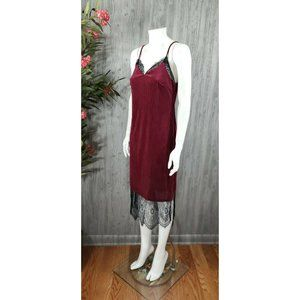 Crescent Velvet Ribbed Slip Midi Cami Dress